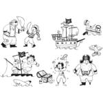Nyomdakészlet - Kalózok