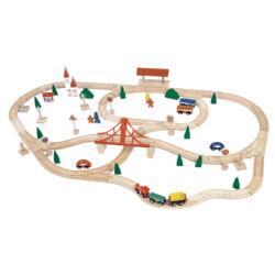 Fa vonatok, járművek