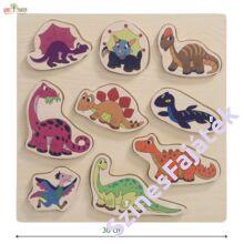 dinoszauruszos puzzle méretekkel