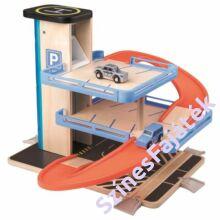 játék parkolóház garázs