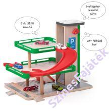 játék parkolóház garázs SIKU autókkal