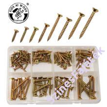 Sárga facsavar készlet - különböző méretű csavarokkal-CV-600533