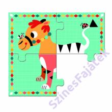 Djeco - Mókás állatok - 4 fakirakó