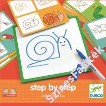 Djeco Lépésről lépésre - állatok - készségfejlesztő játék