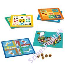 Djeco Klasszikus Társasjáték készlet 12 játékkal