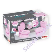 Dolu rózsaszín oktató bili WC hangokkal