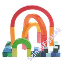 Szivárvány építőkockák - kreatív játék