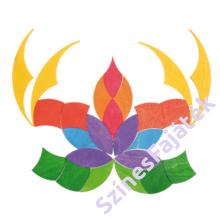 Kirakós fajáték - virág alakú - waldorf