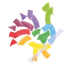 Kirakós fajáték - kör alakú - waldorf