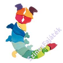 Nagy kirakós fajáték - csiga- waldorf