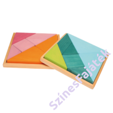 Tangram - fejlesztő játék - narancssárga-rózsaszín