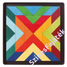 Indián négyzetek mágnes puzzle - waldorf