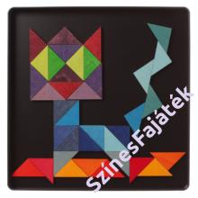 Háromszög mágnes puzzle - waldorf fajáték