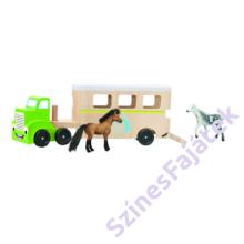 Lószállító kamion lovakkal fajáték