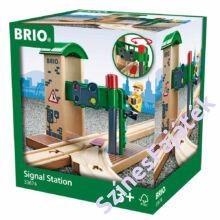 Brio váltó és jelzőállomás - fa vonat kiegészítő