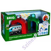BRIO Smart Tech okos mozdony okos alagúttal