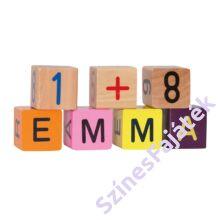 fa építőkockák számokkal és betűkkel