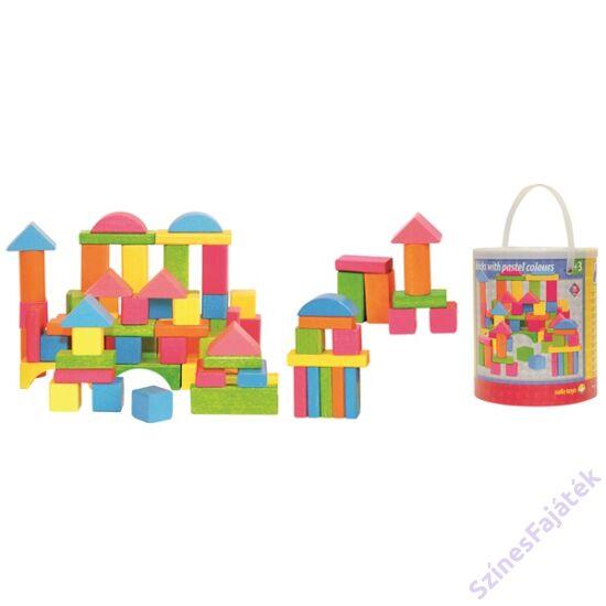 75 darabos építőkocka pasztell szín