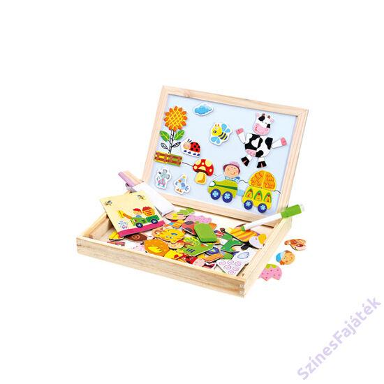 Bino mágneses tábla kirakó játékkal - Farm