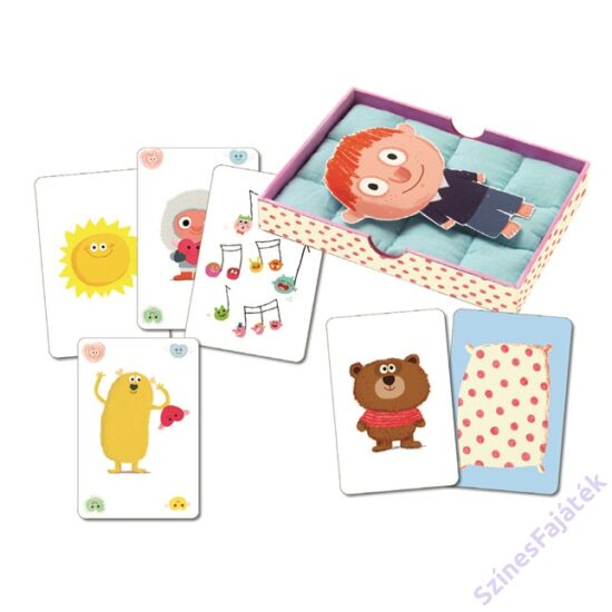 Djeco Jó éjt puszi - kártyajáték kicsiknek