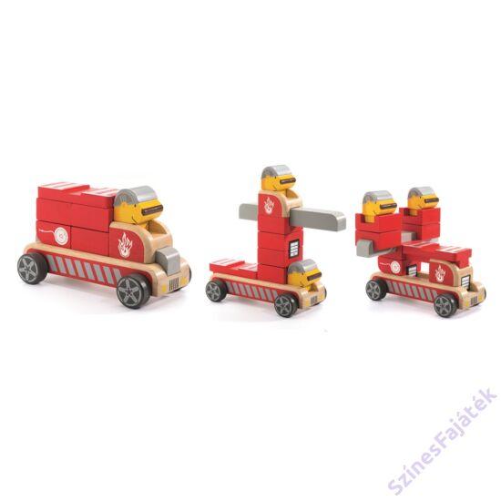 Djeco Tűzoltóautó építő fajáték