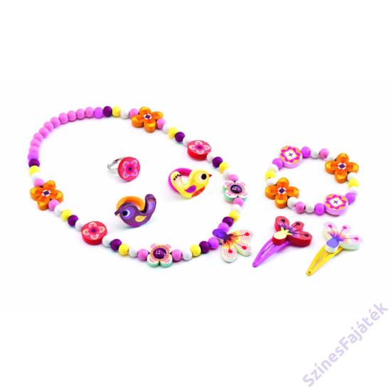 Djeco - Madarak és virágok - ékszerszett