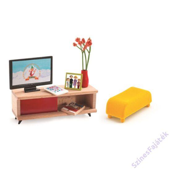 Djeco TV szoba - babaház kiegészítő