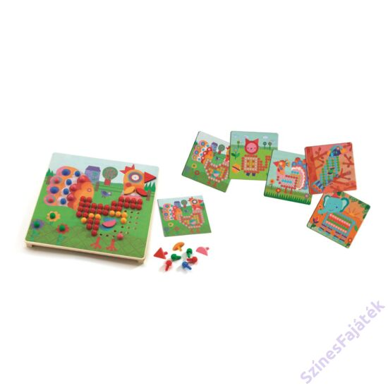 Djeco Pötyi - állatos - fejlesztő játék