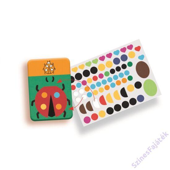 Djeco Oktató matricák - formák - készségfejlesztő játék