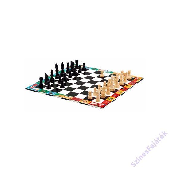 Djeco Klasszikus sakk, kínai sakk és dáma társasjáték készlet - Echecs et Dames