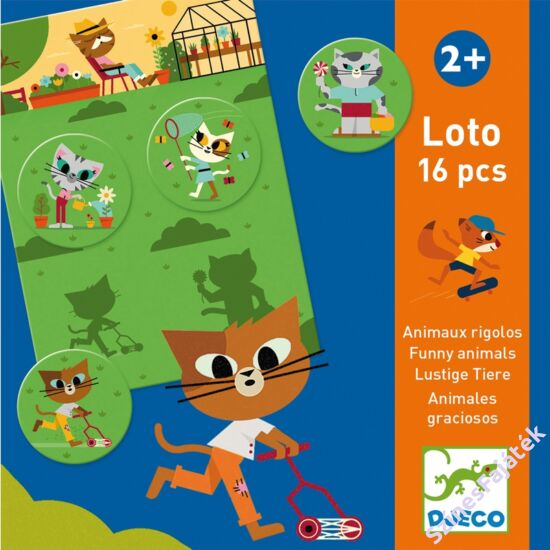 fejlesztő játék - vicces állatok - loto