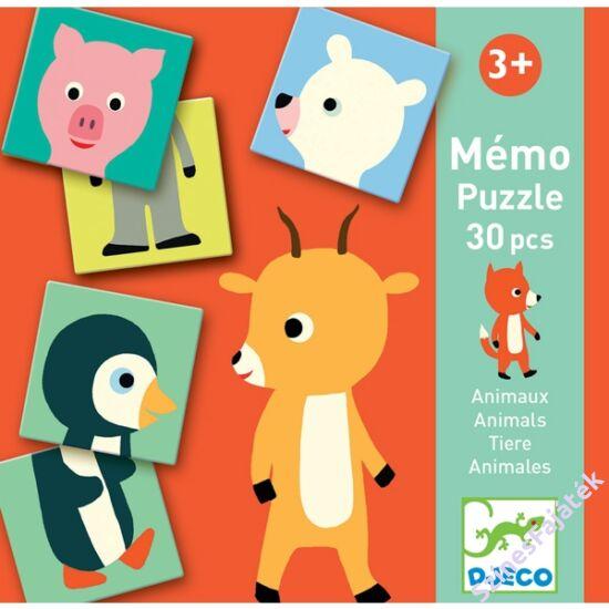 memória és puzzle játék - állatos - Djeco
