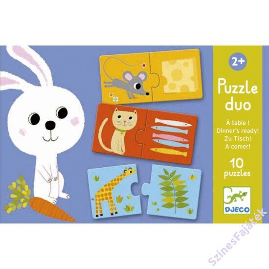 baba puzzle - párosító puzzle - ki mit eszik?