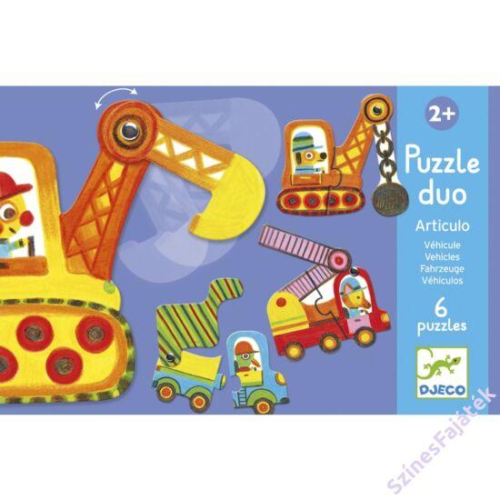 baba puzzle - párosító puzzle - munkagépek