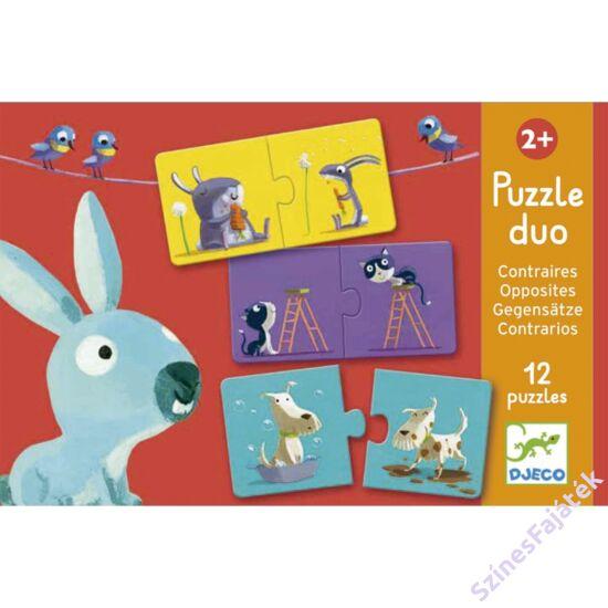 baba puzzle - párosító puzzle - Ellentétek