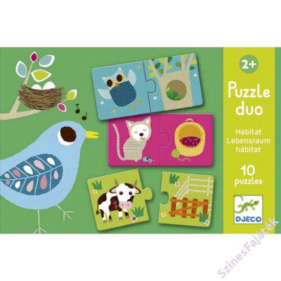 baba puzzle - párosító puzzle - Ki hol lakik?