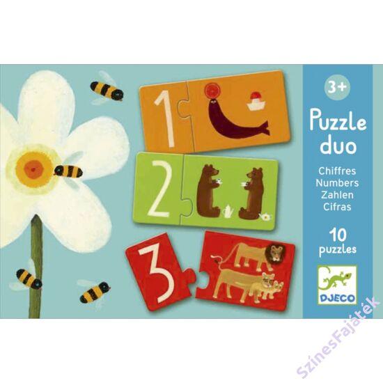 baba puzzle - párosító puzzle - számok