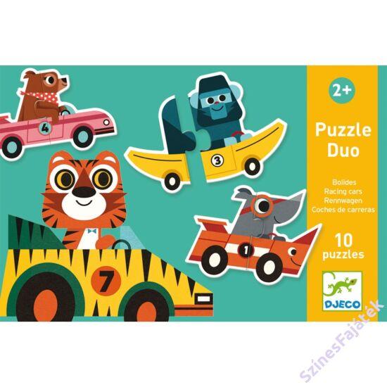 baba puzzle - párosító puzzle - versenyautók