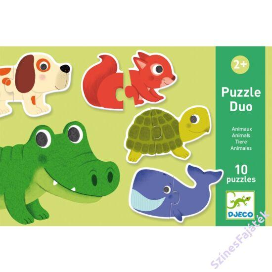 baba puzzle - párosító puzzle - állatok
