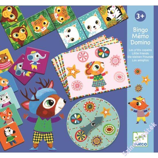 Djeco Bingó, memória, dominó - Barátok - fejlesztő játék