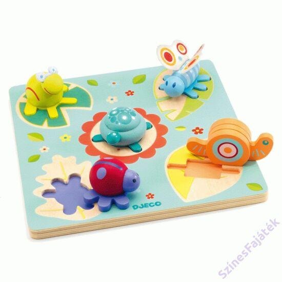 Djeco fogantyús puzzle - csiga és barátai