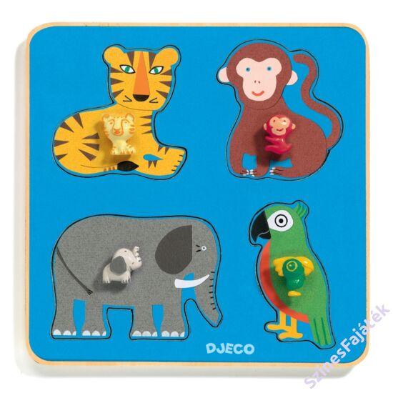 Djeco fogantyús puzzle - dzsungel állata
