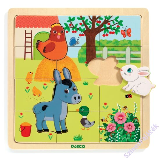 Djeco farm állatai - fa képkirakó