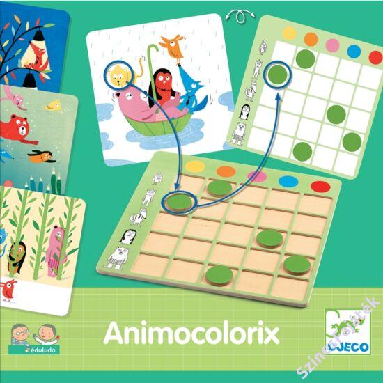 Állatos színkereső fejlesztő játék - Animo Colorix a Djeco-tól