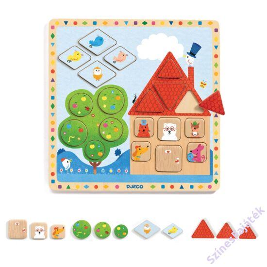 Djeco geometriai formák  - fa kirakó