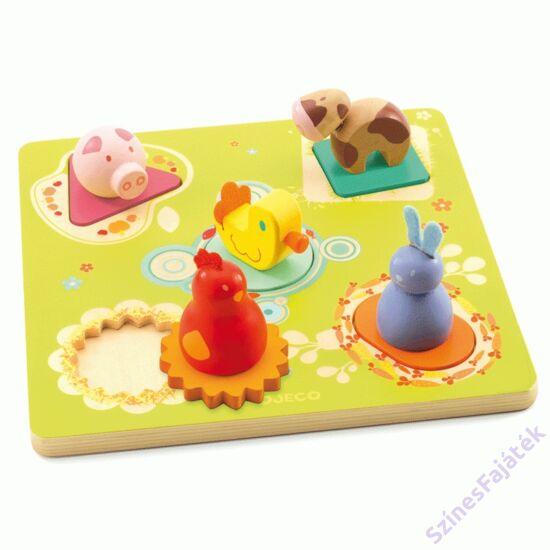 Djeco fogantyús puzzle - kacsa és barátai