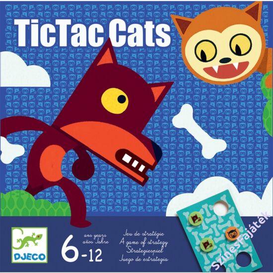 Djeco kétszemélyes logikai társasjáték - Tiki-taki macskák