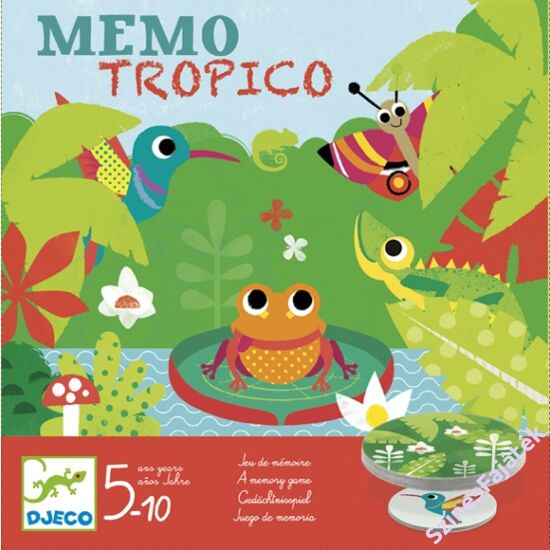 Djeco memória játék - Esőerdő