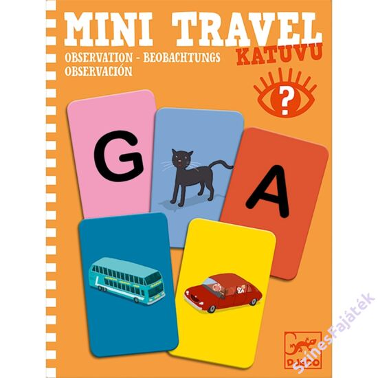 Djeco mini logikai játék - Betű - kép