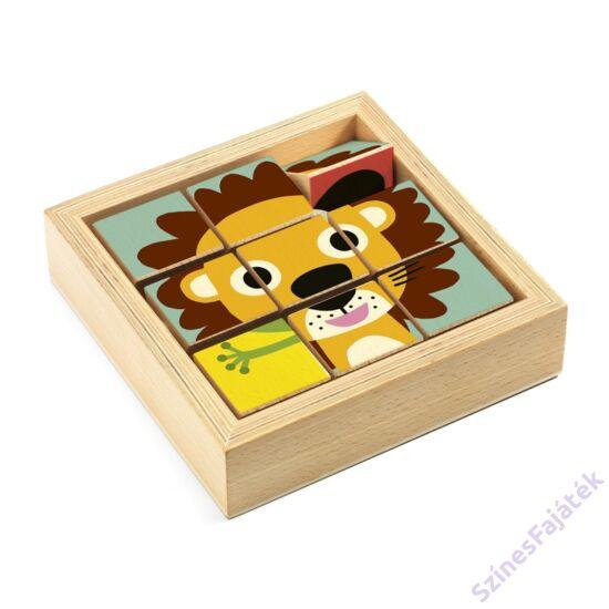 fa kocka kirakó - oroszlán és barátai - djeco